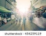 blurred image of street market...   Shutterstock . vector #454259119