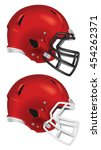 side view of red football... | Shutterstock .eps vector #454262371