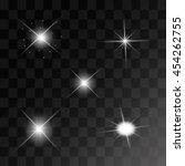 set of vector glowing light... | Shutterstock .eps vector #454262755