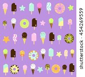 cute ice cream pattern | Shutterstock .eps vector #454269559