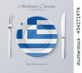 authentic cuisine of greece....   Shutterstock .eps vector #454271974