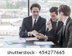 businessmen working together in ... | Shutterstock . vector #454277665