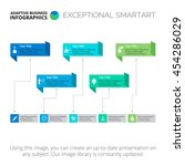callouts five steps slide... | Shutterstock .eps vector #454286029