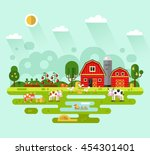 Flat Design Vector Rural...