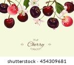 vector cherry banner.... | Shutterstock .eps vector #454309681