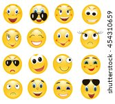vector   isolated  emoticon set | Shutterstock .eps vector #454310659