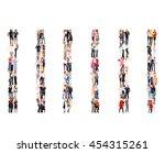 people diversity standing... | Shutterstock . vector #454315261
