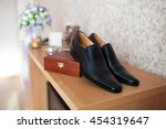 Mens Black Dress Shoes On The...