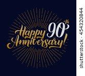 happy anniversary calligraphic... | Shutterstock .eps vector #454320844