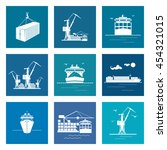 set of marine cargo icons  dry... | Shutterstock .eps vector #454321015