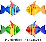 fish vector  set  | Shutterstock .eps vector #454326055