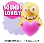 3d rendering. emoji saying... | Shutterstock . vector #454332175