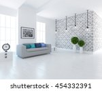 white room with sofa. living... | Shutterstock . vector #454332391