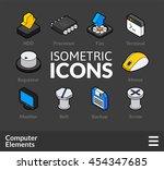 isometric outline icons  3d... | Shutterstock .eps vector #454347685