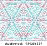ethnic seamless pattern. ethnic ... | Shutterstock . vector #454356559