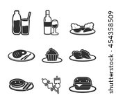 collection flat icons food and... | Shutterstock .eps vector #454358509