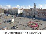 overview of the puerta del sol  ... | Shutterstock . vector #454364401