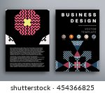 annual report brochure template ... | Shutterstock .eps vector #454366825