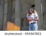 boise  idaho july 16 2016 ... | Shutterstock . vector #454367821