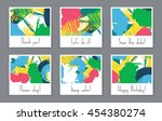 abstract vector layout... | Shutterstock .eps vector #454380274
