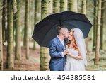 beautiful bride and groom... | Shutterstock . vector #454385581