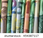 cash money - euro bills / european money - stock photo