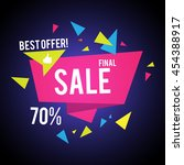 sale banner template. best... | Shutterstock .eps vector #454388917