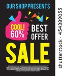 sale poster template. best... | Shutterstock .eps vector #454389055