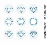 diamonds icon set | Shutterstock .eps vector #454389409