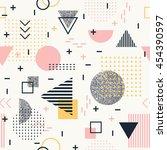 geometric  seamless pattern for ... | Shutterstock .eps vector #454390597