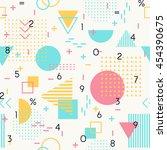 geometric  seamless pattern... | Shutterstock .eps vector #454390675