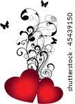 vector heart | Shutterstock .eps vector #45439150