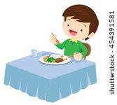 illustration of a cute children ... | Shutterstock .eps vector #454391581
