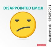 single disappointed emoji.... | Shutterstock .eps vector #454397041