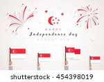 9 august. singapore... | Shutterstock .eps vector #454398019