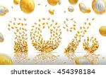 10 percent made of coins.... | Shutterstock . vector #454398184
