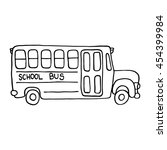 School Bus Icon. Outlined On...