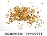 buckwheat on a white... | Shutterstock . vector #454400851