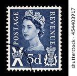 scotland   circa 1958 to 1970 ... | Shutterstock . vector #454403917