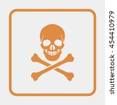 skull and crossbones   a mark... | Shutterstock .eps vector #454410979