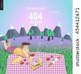 404 error template of young... | Shutterstock .eps vector #454412671