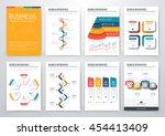 modern infographic vector... | Shutterstock .eps vector #454413409
