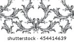 damask baroque pattern with... | Shutterstock .eps vector #454414639
