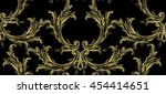 damask baroque pattern with... | Shutterstock .eps vector #454414651