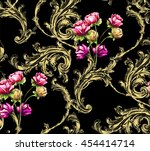 Baroque Pattern With Gold...