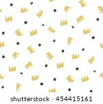seamless pattern for a birthday.... | Shutterstock .eps vector #454415161