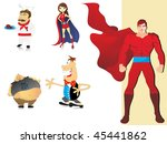 background with collection of... | Shutterstock .eps vector #45441862