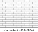 white brick wall background.... | Shutterstock .eps vector #454420669