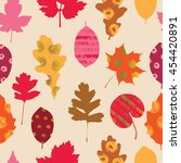 autumn seamless pattern.... | Shutterstock .eps vector #454420891
