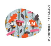 autumn illustration with...   Shutterstock .eps vector #454421809